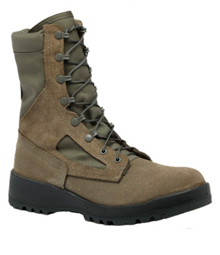 Waterproof Sage Green Safety Toe Boot - USAF