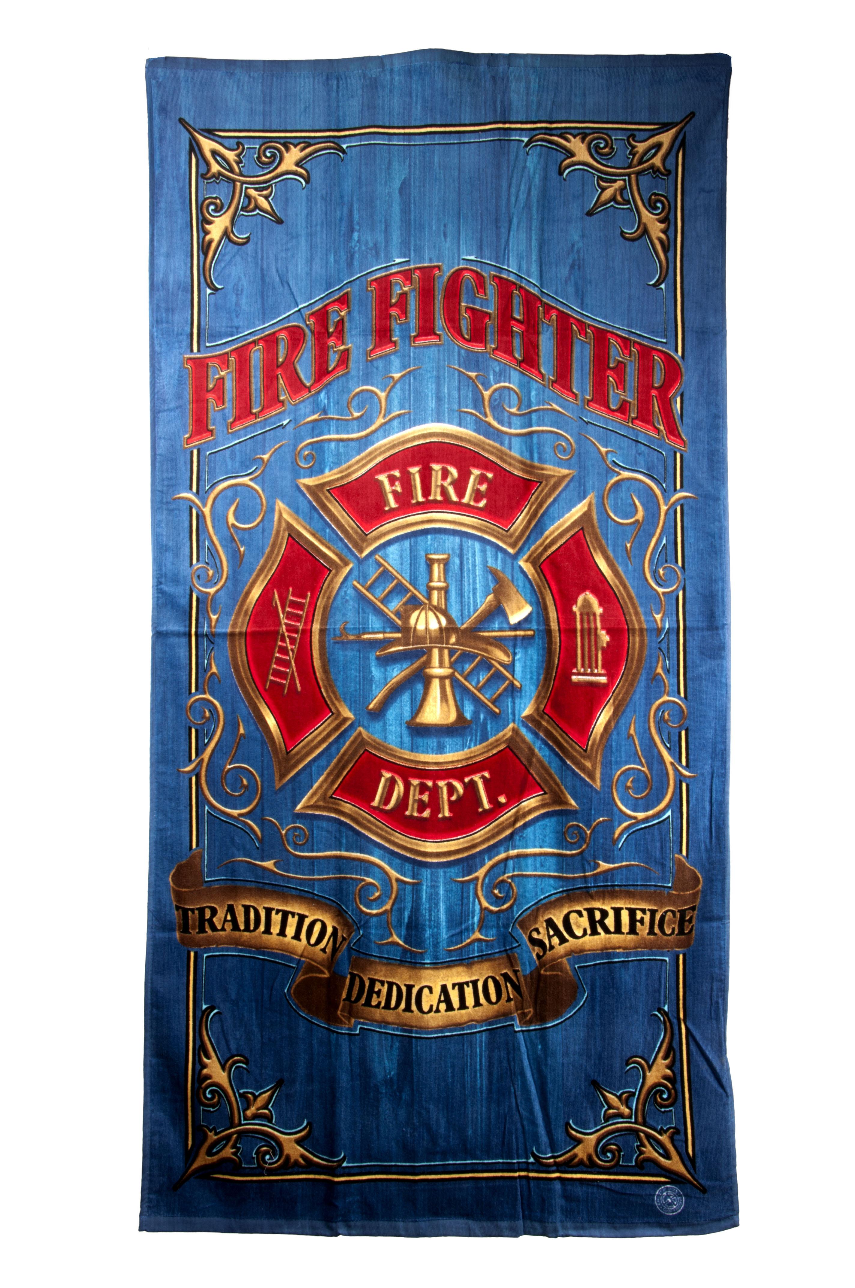 Fire Fighter Fleece Throw Blanket