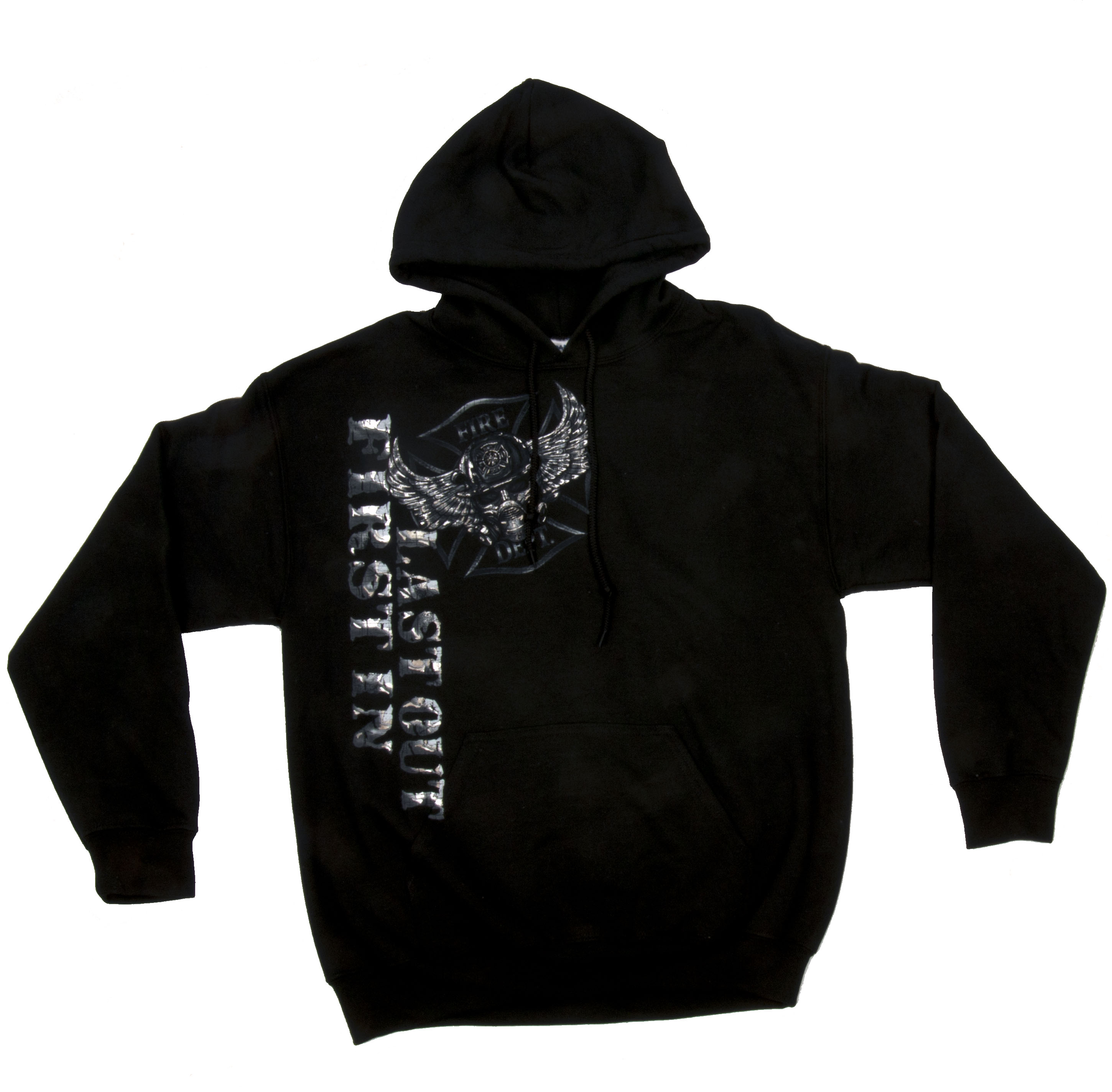 First In Last Out Black Hoodie