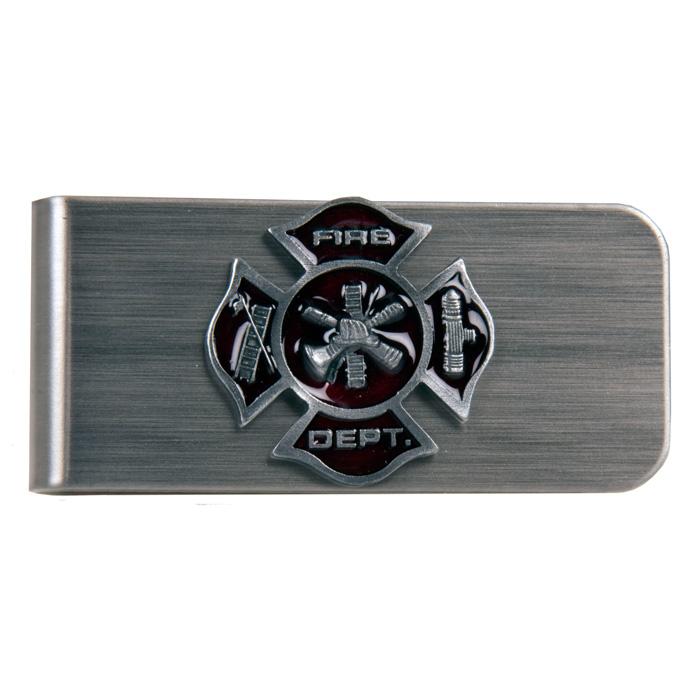 Fire Fighter Emblem Money Clip