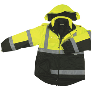 Two Tone Six-In-One Four Seasons Reversible - Rain Safety Jacket