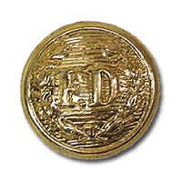 FD Button Small Gold