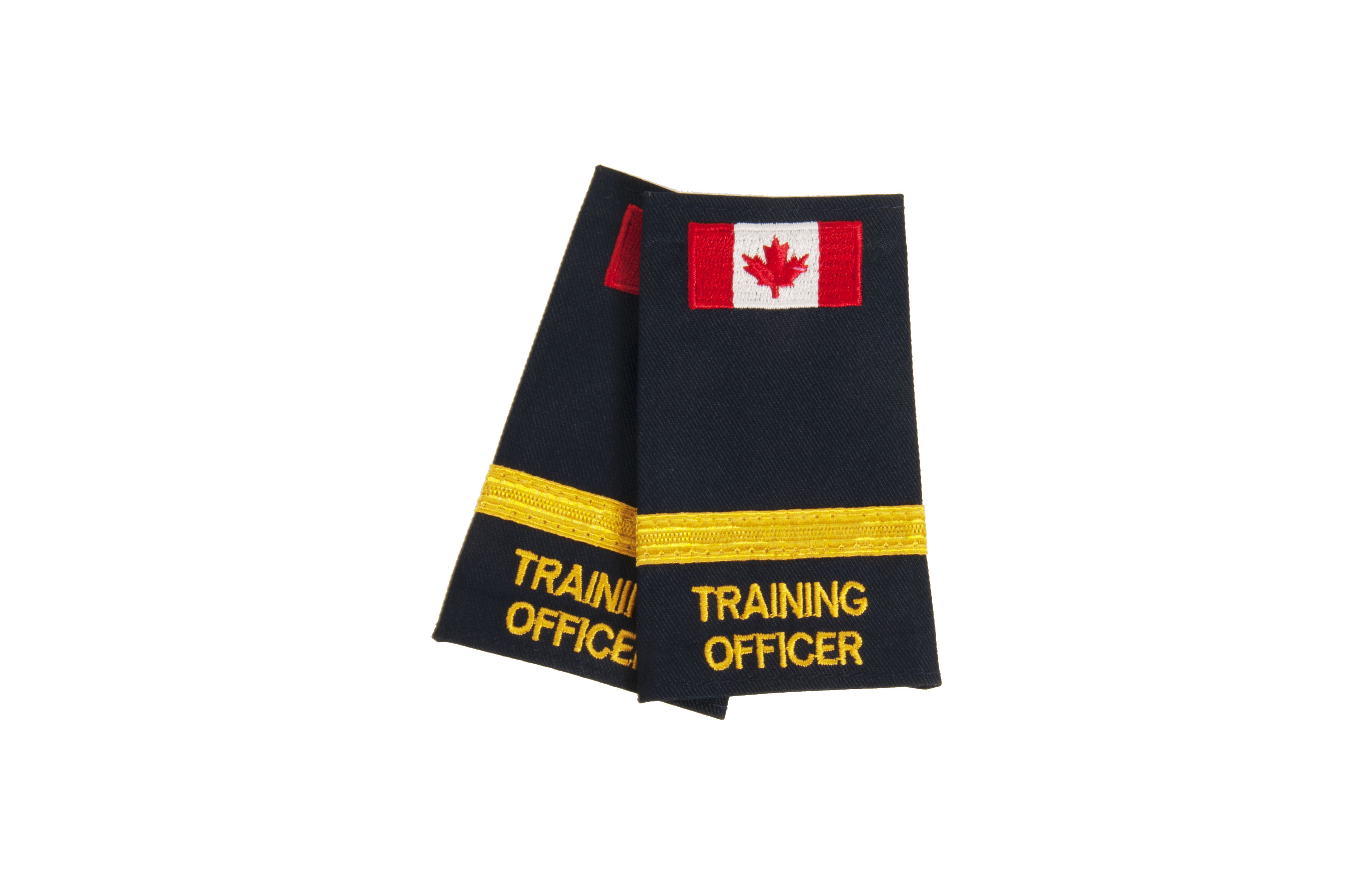Training Officer 1 Braid Slip-On with Canadian Flag