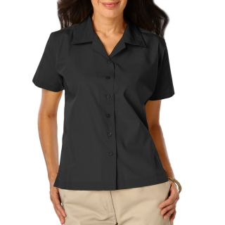 Ladie's Short Sleeve Solid Campshirt 65/35 Poly/ Cotton