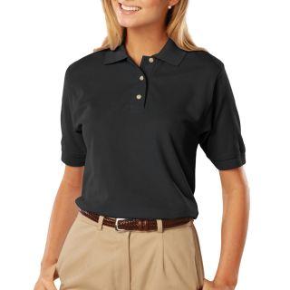 Ladies Short Sleeve 100% Cotton Pique Polo