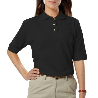 Ladie's Short Sleeve Teflon Treated Piques No Pocket