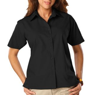 Ladie's Short Sleeve Light Weight Poplin Shirt