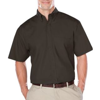 Men's Short Sleeve Easy Care Poplin With Matching Buttons