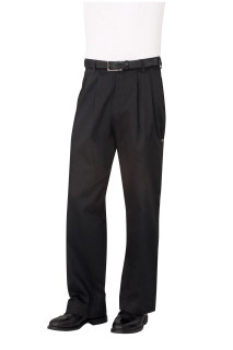 Black Basic Chef Pants