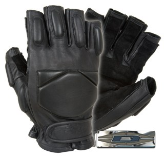 Responder™ Gloves - 1/2 Finger Leather w/Reinforced Palms