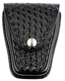 Large Single Closed Cuff Case - Basket Weave