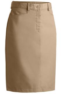 Edwards Ladies Blended Chino Skirt-Medium Length