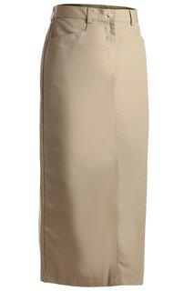Edwards Ladies Blended Chino Skirt-Long Length