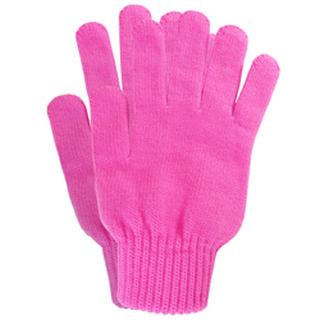 Warm Knit - Pink Acrylic Seamless Knit Gloves