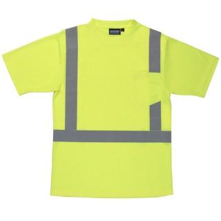 ANSI Class 2 T-Shirt W/Reflective Tape Birdseye Knit Mesh