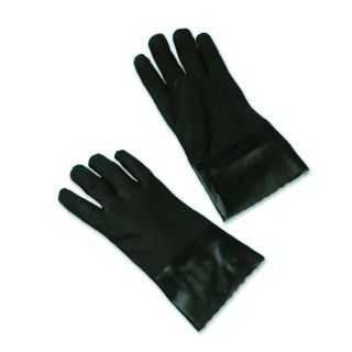 Mens Coated Black PVC Double Dipped Gloves