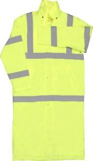 ANSI Class 3 Long Rain Coat - Zipper