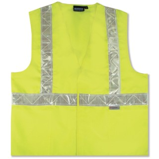 ANSI Class 2 Vest W/ Pockets Woven Oxford - Hook & Loop