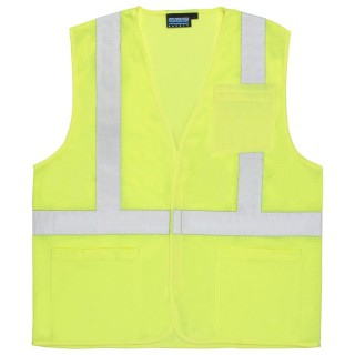 ANSI Class 2 Vest Mesh Economy W/Pockets - Hook & Loop