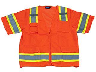ANSI Class 3 Vest Solid Front Mesh Back Surveyor