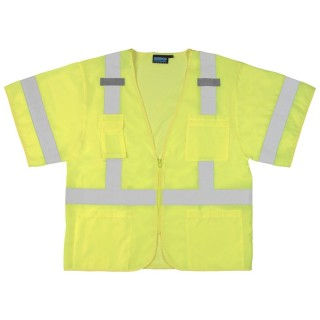 ANSI Class 3 Vest Oxford Front/Mesh Back - Zipper