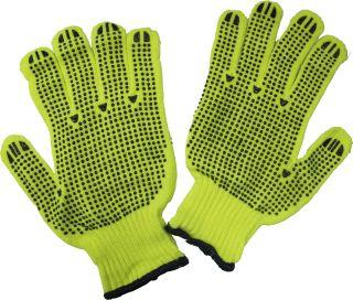 String Hi-Viz Lime Dotted 2 Sides Gloves