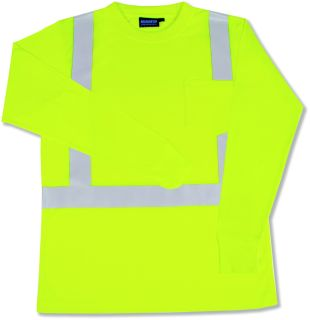 ANSI Class 2 T-Shirt Long Sleeve w/Reflective Tape Hi-Viz
