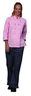Ladies Pink Twl Chef Coat
