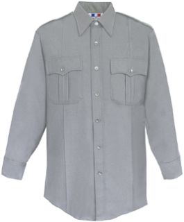 WoMen's Heather Grey Long Sleeve Deluxe Tactical Shirt 68/30/2 Poly/Rayon/Lycra®;