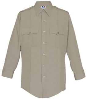 WoMen's Silver Tan Long Sleeve 65/35 Poly/Cotton Duro Poplin Shirt