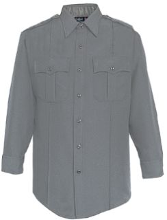 WoMen's Grey Tall Long Sleeve 100% Visa®; System 3 Polyester Shirt