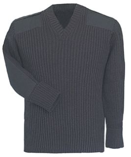 Black Bulky Sweater w/Wind-Stop 70% Acrylic/30% Wool