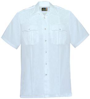 Men's White Short Sleeve 65/35 Polyester/Coolmax®; Shirt