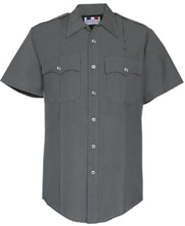 Men's Slate Grey Short Sleeve Deluxe Tropical Shirt 65/35 Poly/Rayon