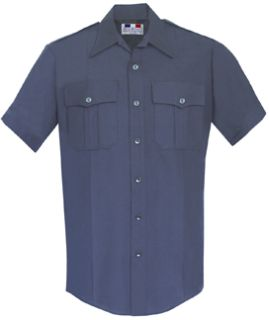 98R6686Men's LAPD Navy Short Sleeve Deluxe Tropical Shirt 65/35 Poly/Rayon