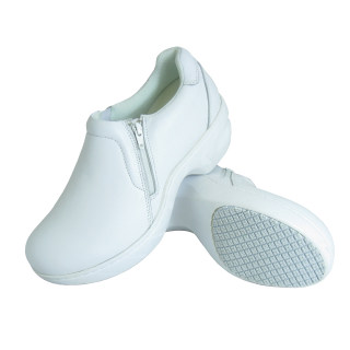 465 Slip on Zipper White Women