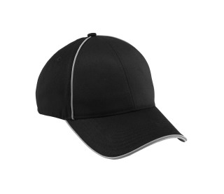 Unbrushed Chino Twill Sandwich Cap With Reflective