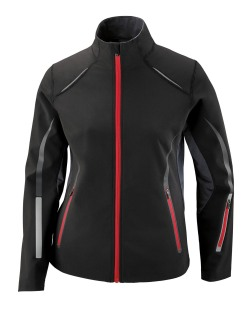 Pursuit Ladie's 3-Layer Light Bonded Hybrid Soft Shell Jacket With Laser Perforation
