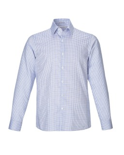 New Iconic Men's Wrinkle Free 2-Ply 80's Cotton Checkered Dobby Twill Taped Shirts