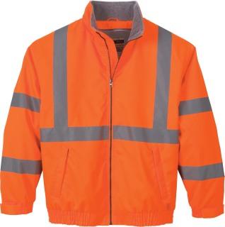 Men's Vertical Stripe Insulated Safety Jacket