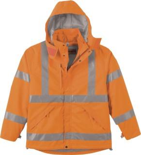 Men's 3-In-1 Vertical Stripe Safety Jacket With Fleece Liner