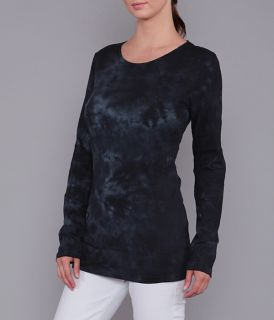 Ladies Long Sleeve Crystal-wash, Crew Neck Jersey Tee by Branded Bull