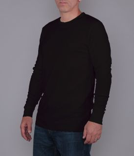 Mens Long Sleeve Light Weight Basket Knit Thermal Top
