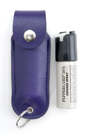 Leather Case Model w/  key ring-Purple/ 11 grams