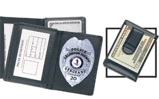 Side Open Badge Case with Credit Card Slots and Money Clip - Dress