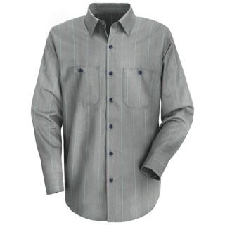 Men's Industrial Stripe Work Shirt - Long Sleeve